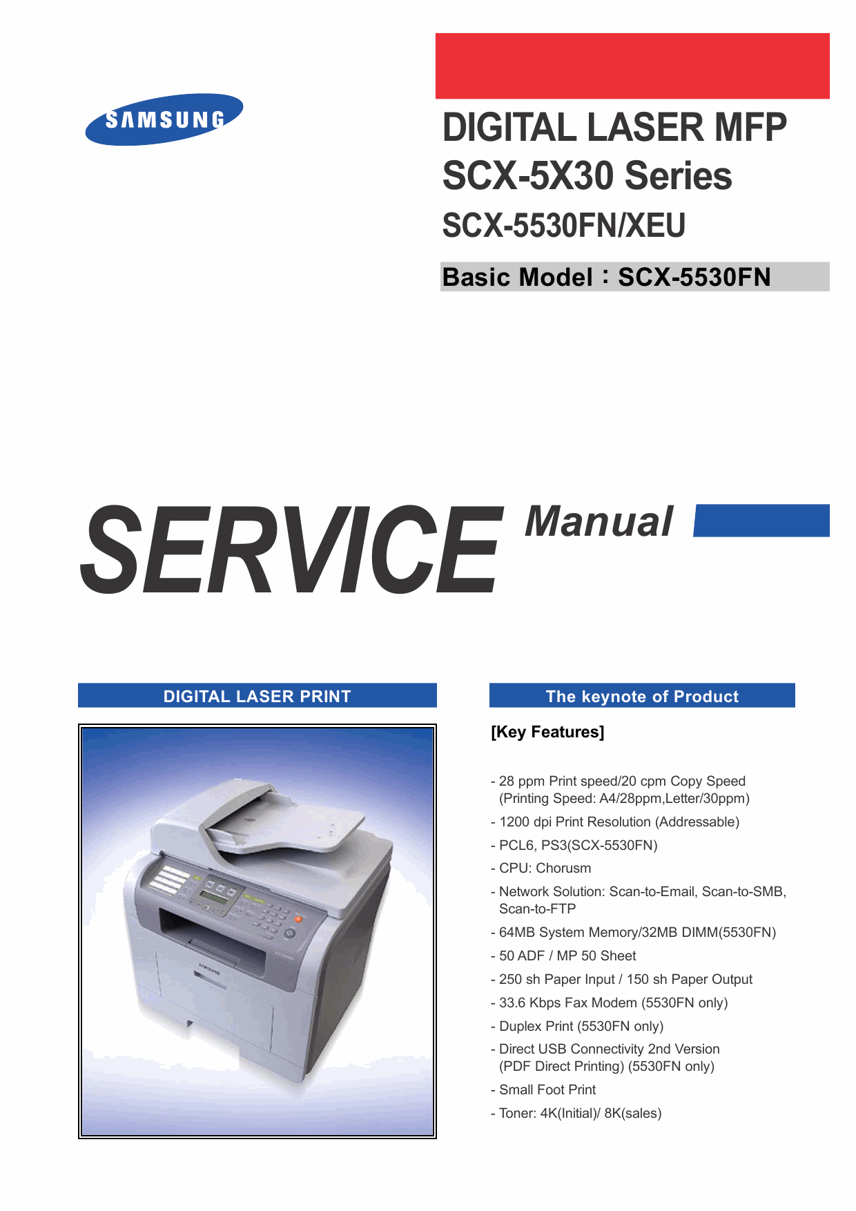 Samsung Digital-Laser-MFP SCX-5530FN Service Manual-1
